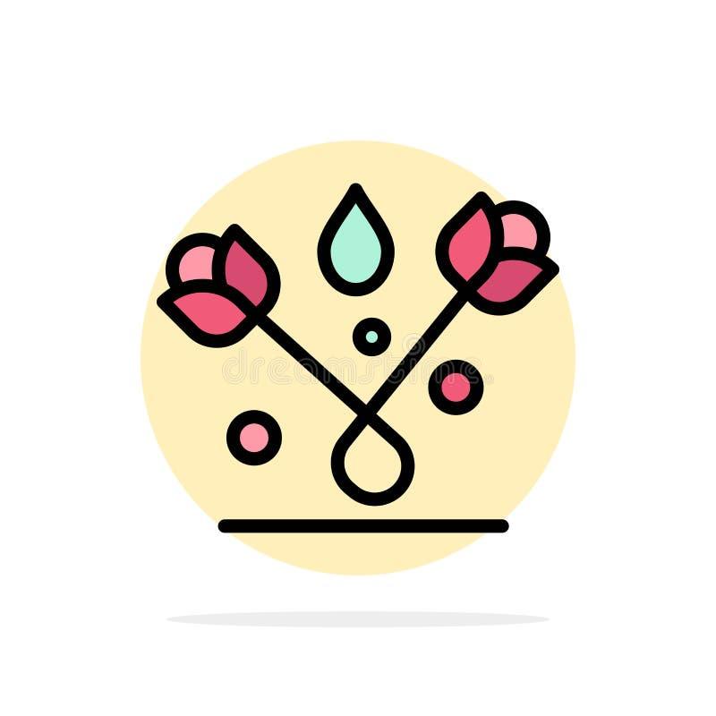 Decoração, Páscoa, planta, ícone da cor de Tulip Abstract Circle Background Flat ilustração royalty free