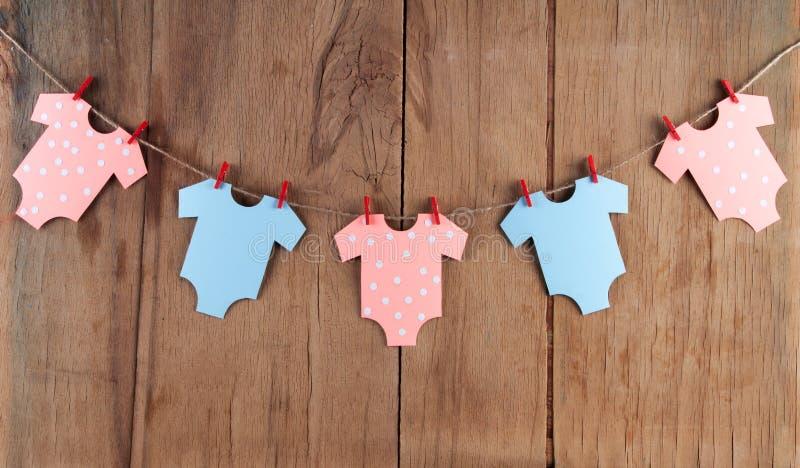 Decoração para a festa do bebê fotografia de stock royalty free