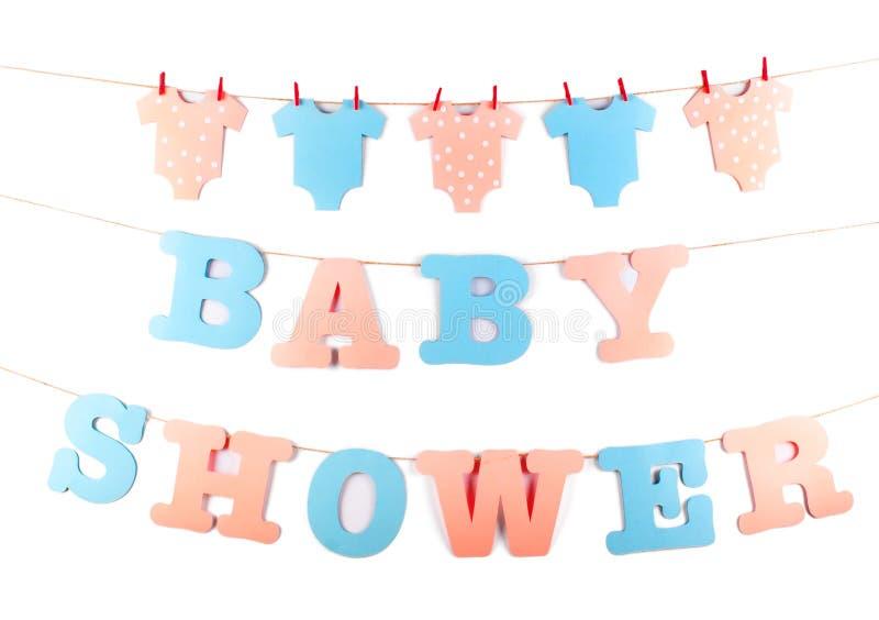 Decoração para a festa do bebê imagens de stock royalty free