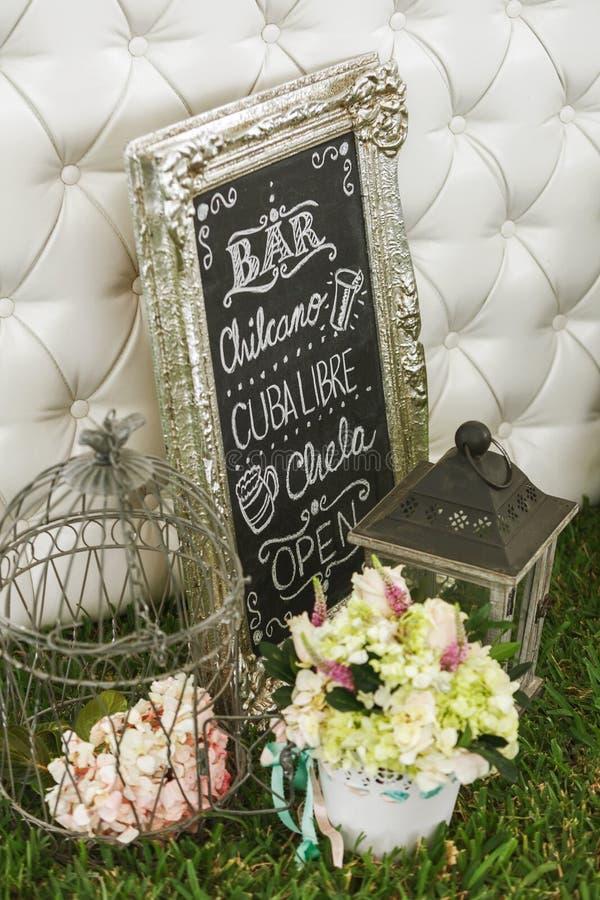 Decoração para o casamento de DIY imagens de stock