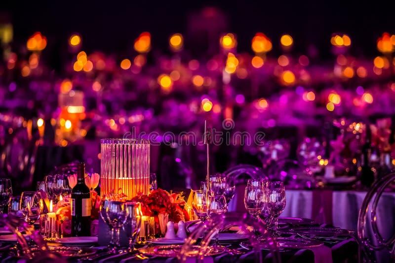 Decoração para um grande jantar do partido ou de gala imagens de stock royalty free