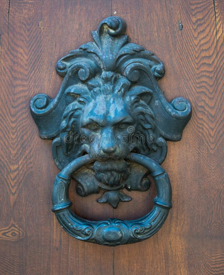 Decoração principal dos leões para uma casa fotografia de stock royalty free