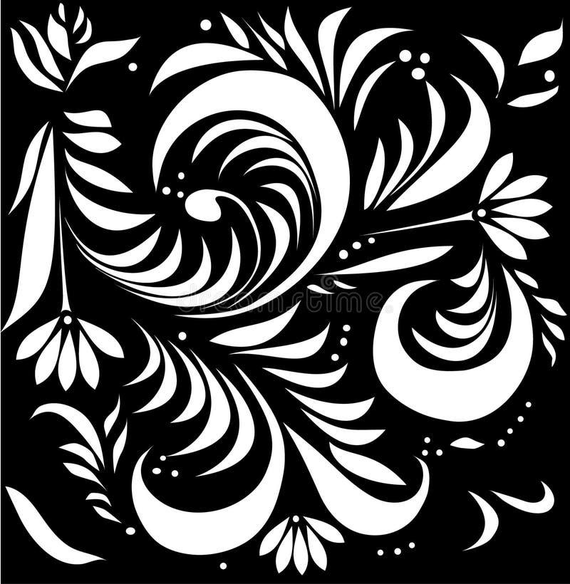 Decoração tradicional branca ilustração royalty free