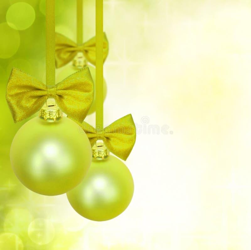 Decoração verde dos baubles do Natal fotos de stock