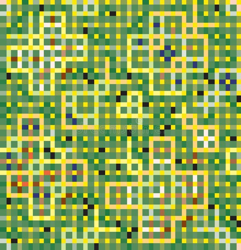 Decoração verde dos quadrados e dos retângulos ilustração royalty free