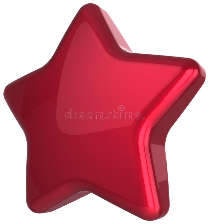 Decoração vermelha da concessão da placa da estrela ilustração do vetor