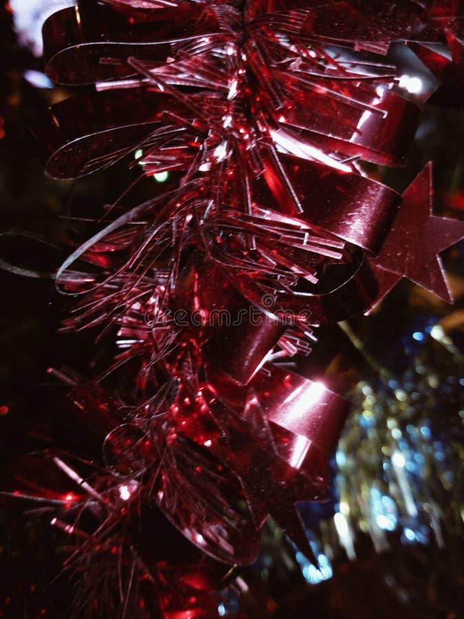 Decoração vermelha do Natal fotografia de stock royalty free
