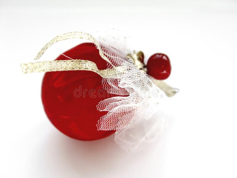 Decoração vermelha do Natal fotografia de stock