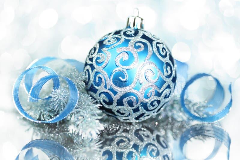 Decorações azuis do Natal imagem de stock royalty free