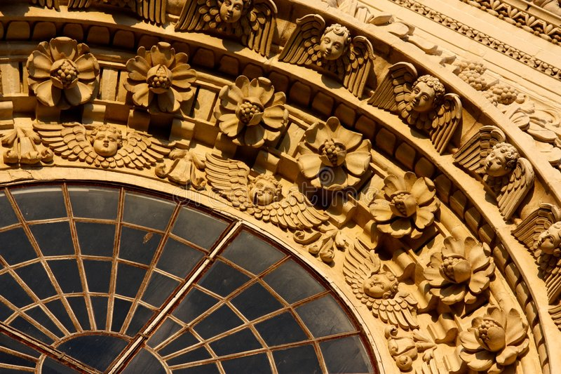Decorações barrocas em Lecce, Italy imagem de stock royalty free