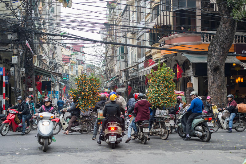 Decorações chinesas do ano novo em Vietname fotos de stock royalty free