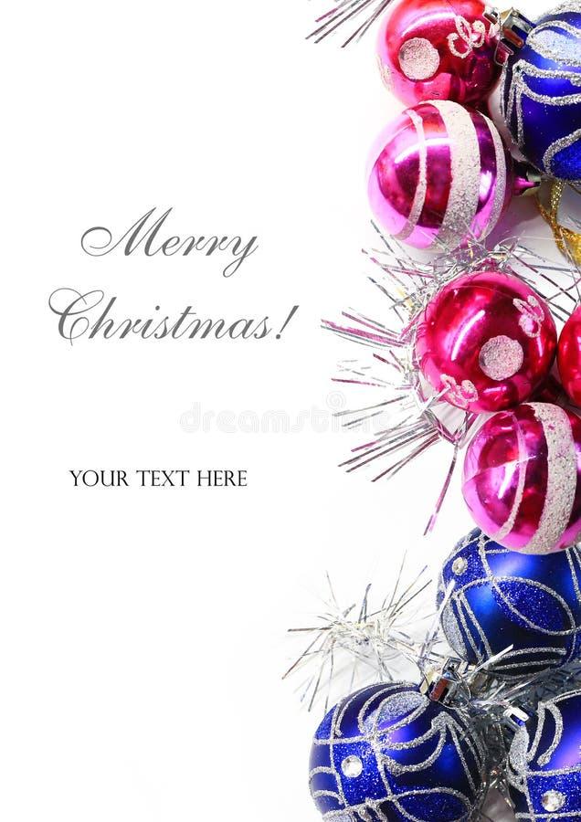 Decorações coloridas brilhantes do Natal ilustração stock