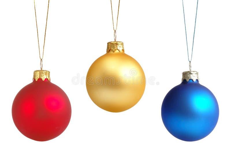 Decorações da árvore de Natal fotos de stock royalty free