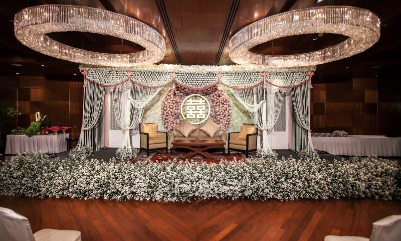 Decorações da flor na fase fotos de stock royalty free