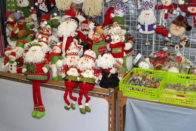 Decorações de Christmas do pai em Hong Kong imagens de stock royalty free