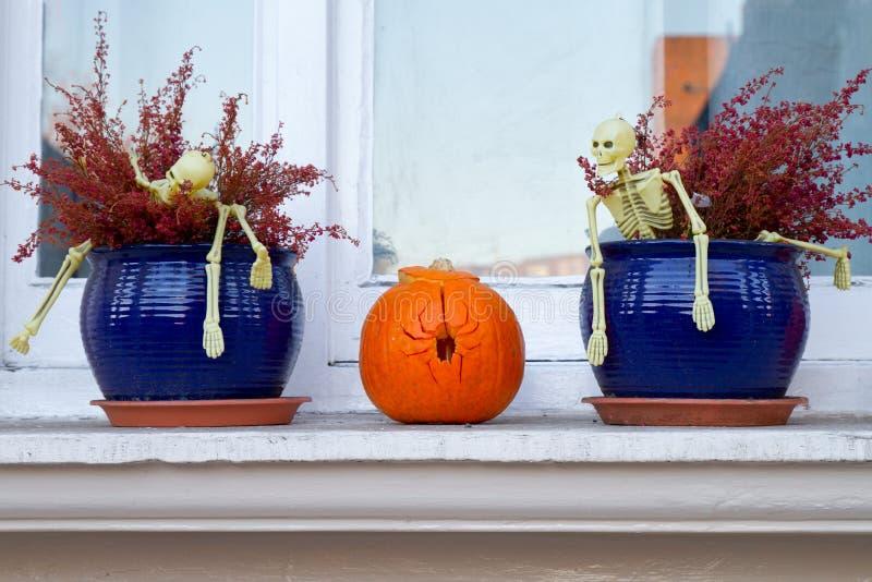 Decorações de Halloween imagens de stock