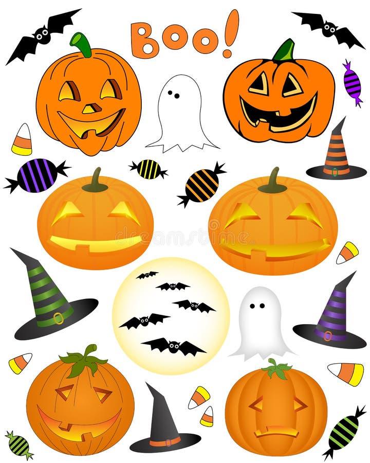 Decorações de Halloween fotografia de stock