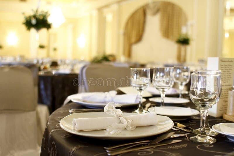 Decorações do evento na tabela fotos de stock royalty free