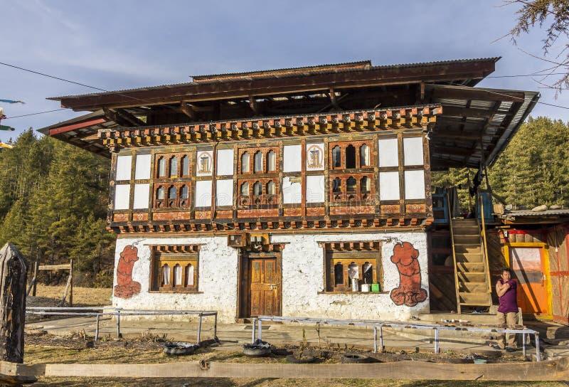 Decorações do falo, Butão fotos de stock