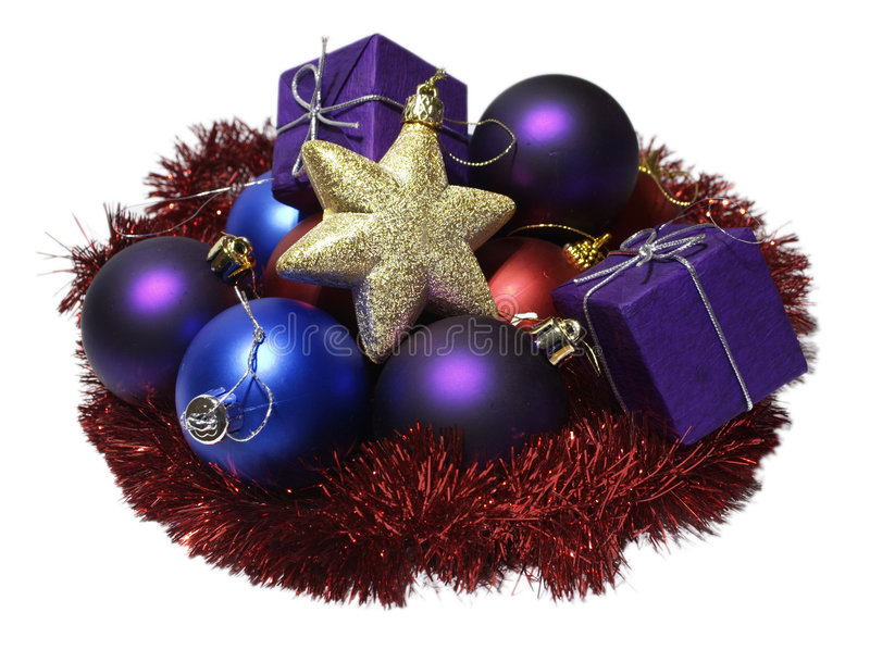 Download Decorações do Natal imagem de stock. Imagem de ouropel - 102563