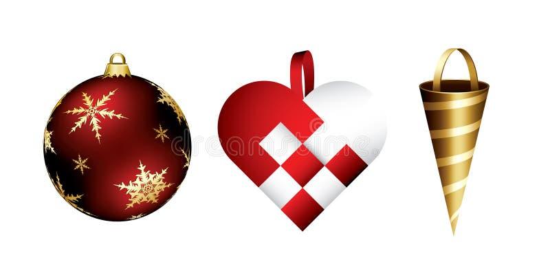 Decorações do Natal ilustração do vetor