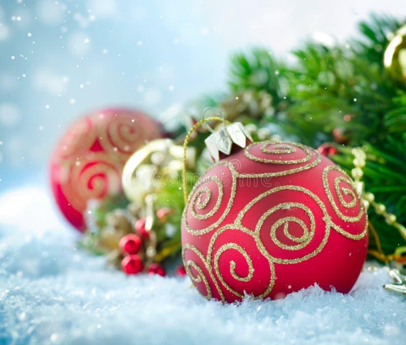 Decorações do Natal fotos de stock royalty free