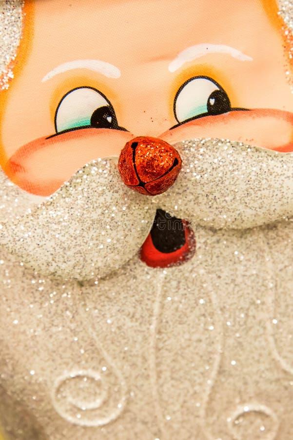 Decorações do Natal - a cara de Santa imagens de stock royalty free