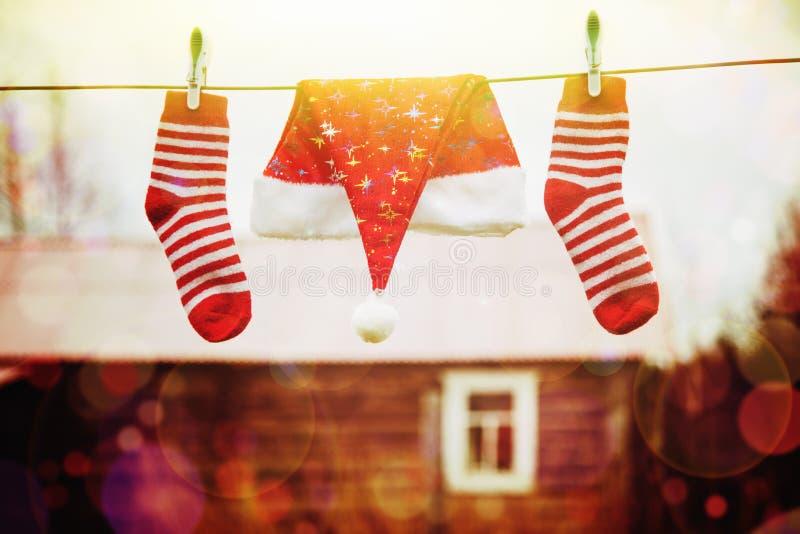 Decorações do Natal Conceito do feriado do Xmas imagens de stock royalty free