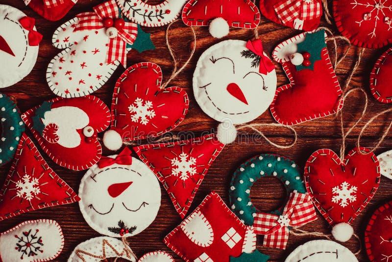 Decorações do Natal de feltro foto de stock