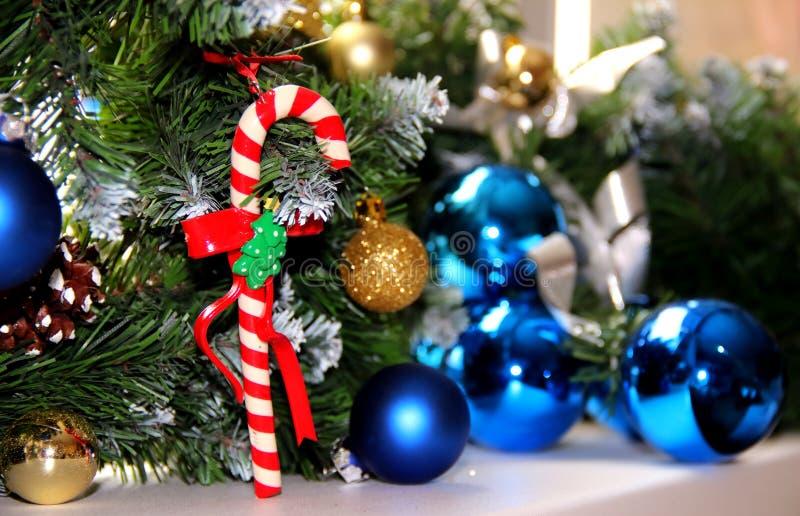 Decorações do Natal e do ano novo imagens de stock royalty free