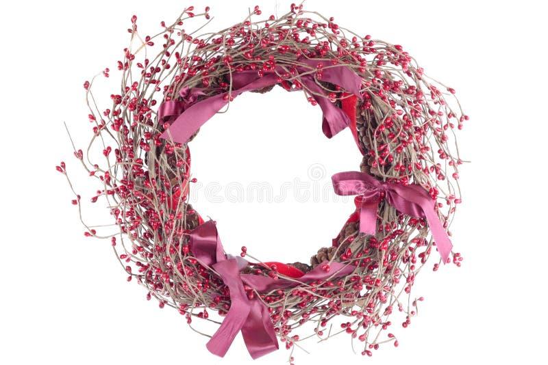 Decorações do Natal sobre o branco foto de stock royalty free