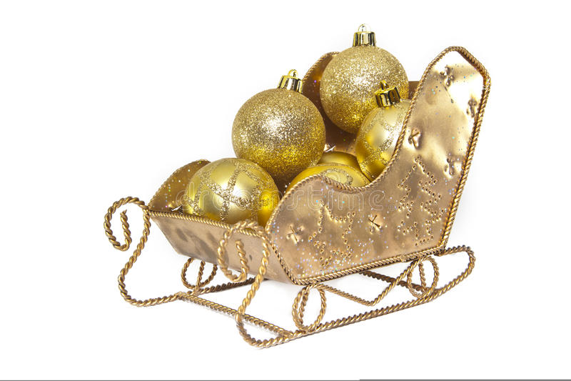 Decorações do trenó do Natal imagem de stock