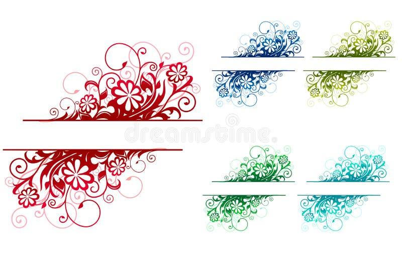 Decorações florais ilustração do vetor