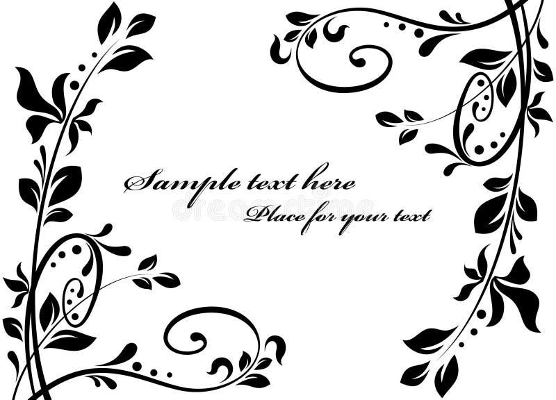 Decorações florais ilustração royalty free