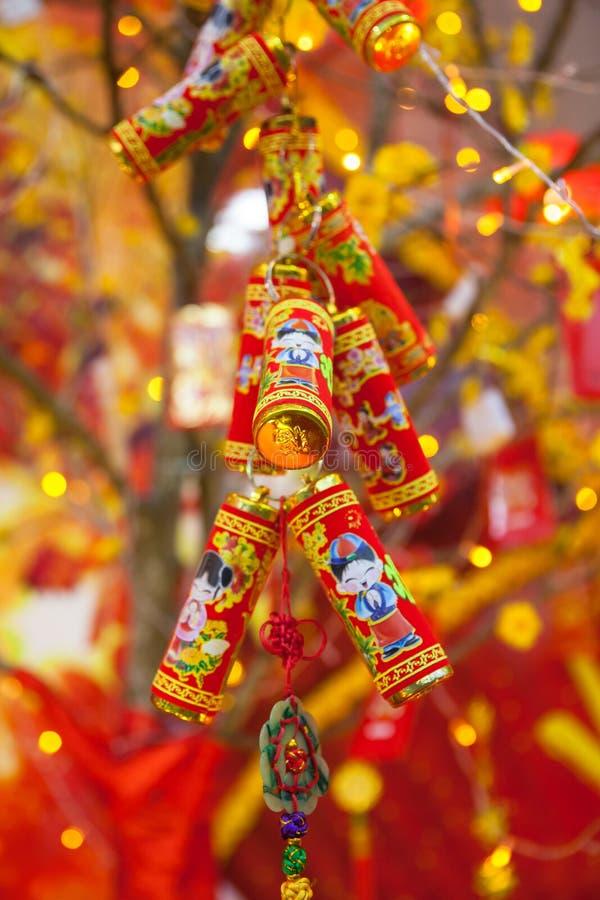 Decorações lunares chinesas de Tet do ot do ano novo, Vietname fotos de stock royalty free