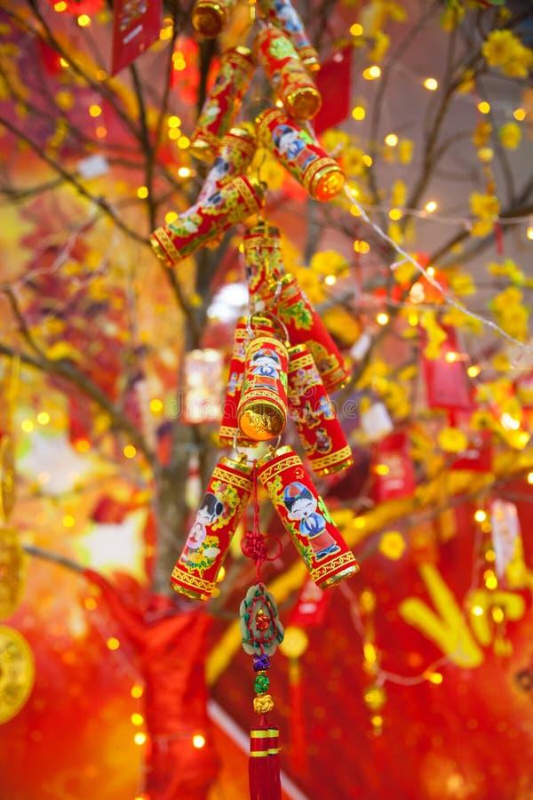 Decorações lunares chinesas de Tet do ot do ano novo, Vietname imagem de stock royalty free