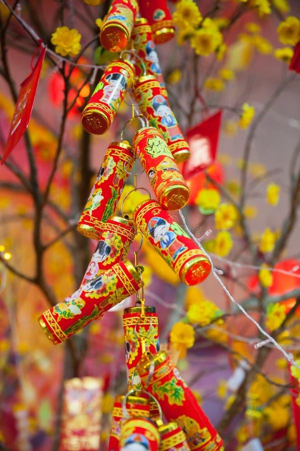 Decorações lunares chinesas de Tet do ot do ano novo, Vietname fotografia de stock royalty free
