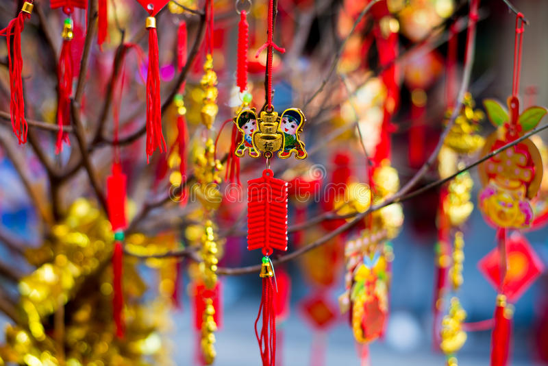 Decorações lunares do ano novo imagens de stock royalty free