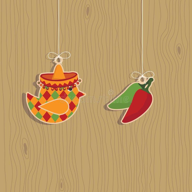 Decorações mexicanas ilustração royalty free