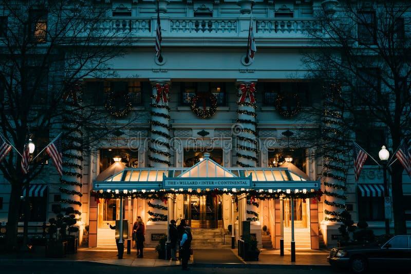 Decora??es do Natal em Willard Intercontinental Hotel, em Washington do centro, C.C. fotografia de stock royalty free