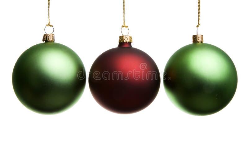 Decoración 3 de la Navidad imagenes de archivo