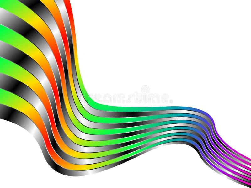 Decoración abstracta en el fondo blanco ilustración del vector
