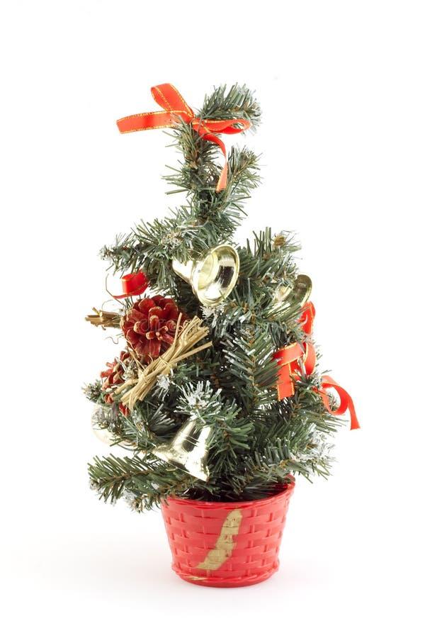 Decoración aislada de la Navidad en el fondo blanco imagenes de archivo