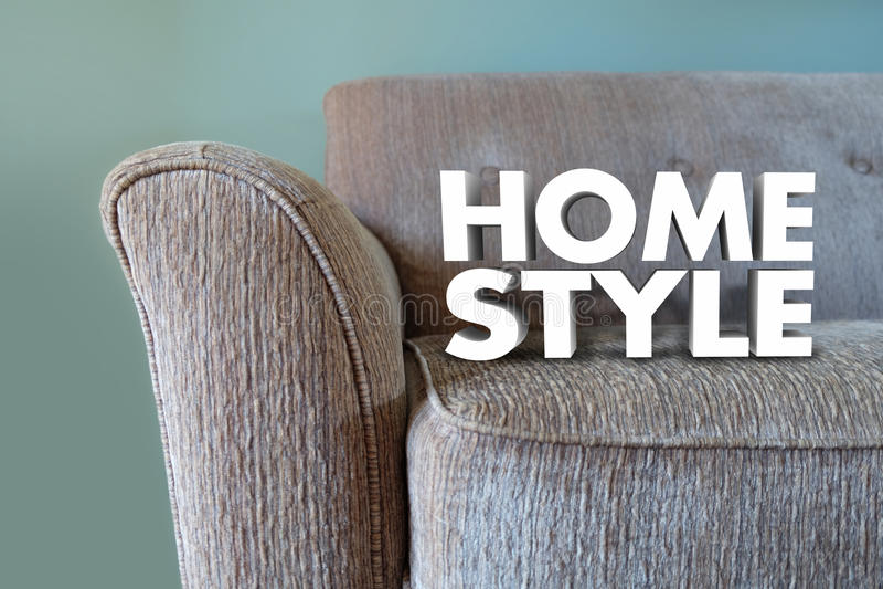 Decoración casera del diseño interior de los muebles del sofá del estilo ilustración del vector