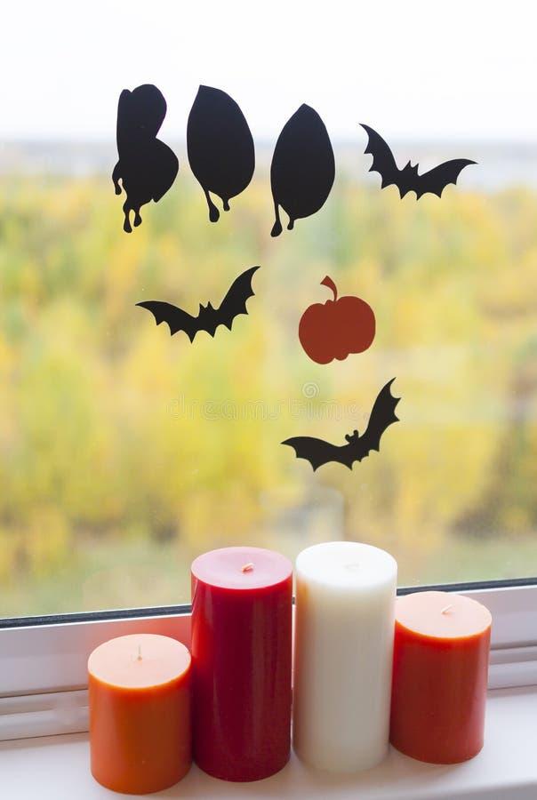 Decoración casera para Halloween fotos de archivo