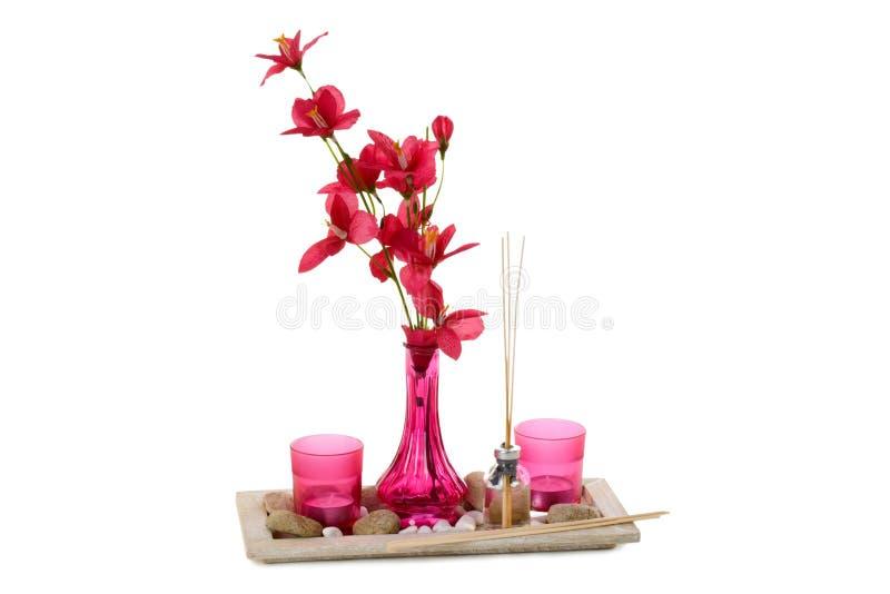Decoración casera rosada imagen de archivo libre de regalías
