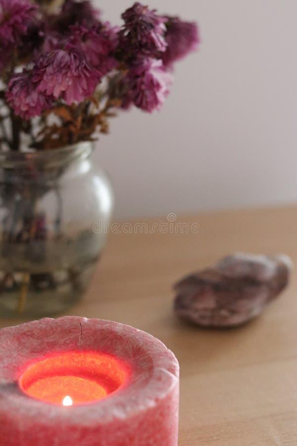 Decoración casera rosada femenina imagenes de archivo