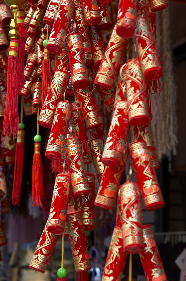 Decoración china 3 del Año Nuevo fotografía de archivo libre de regalías