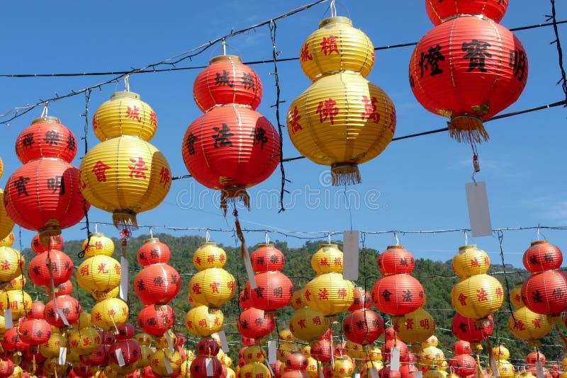 Decoración china del Año Nuevo, linterna imagenes de archivo