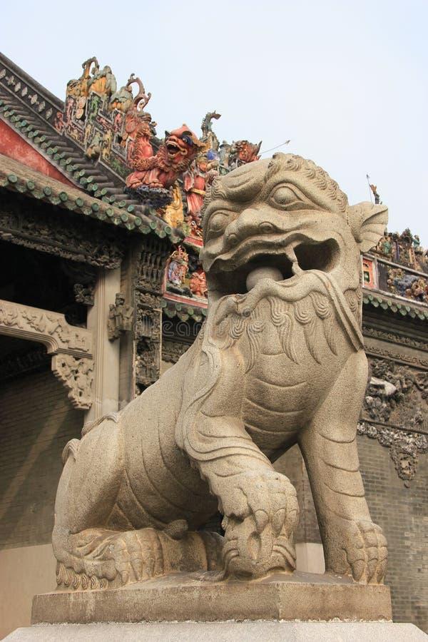 Decoración china delante del templo ancestral de Chen Fami imágenes de archivo libres de regalías